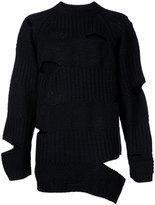 Miharayasuhiro border knit jumper
