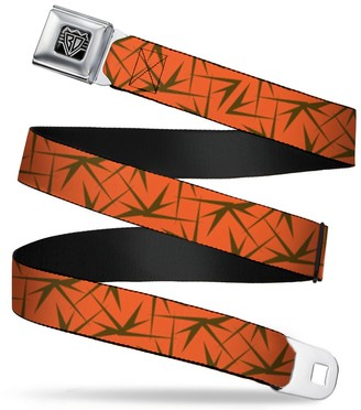 """Buckle Down Buckle-Down Unisex-Adults Seatbelt Belt Spikes XL Scattered Orange/Brown 1.5"""" Wide - 32-52 Inches"""