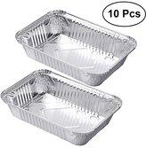 BESTOMZ 10pcs Chafing Pans Disposable Aluminum Foil Steam Table Deep Pans Roaster Pans