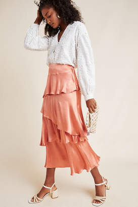 Maeve Cassia Tiered Maxi Skirt