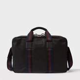 Men's Black Webbing Stripe Business Folio