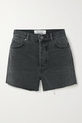 Reformation Dixie Frayed Denim Shorts - Black