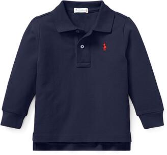 Ralph Lauren Pique Long-Sleeve Polo Shirt