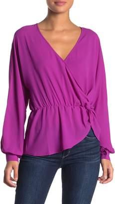 Lush Dolman Sleeve Side Twist Blouse