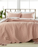 CLOSEOUT! Nadia Dusty Rose 2-Pc. Twin/Twin XL Quilt Set