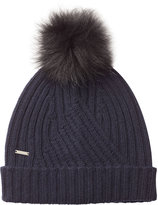 Woolrich Hat with Wool, Cashmere and Raccoon Fur Pompom