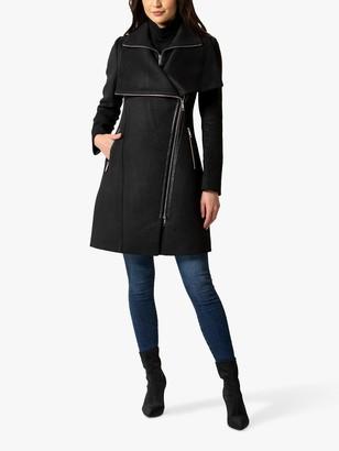 Forever New Athena Biker Coat, Black
