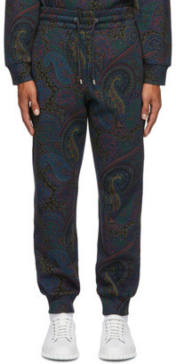 Etro Navy Paisley Lounge Pants