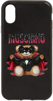 Moschino Teddy Printed Canvas Iphone Xs Max Cover