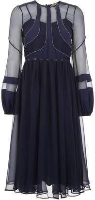 N°21 N.21 Chiffon Dress With Micro Crystals