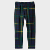 Paul Smith Men's Tapered-Fit Black Watch Check Wool Trousers