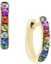 Bloomingdale's Multicolor Sapphire and Tsavorite Hoop Earrings in 14K Yellow Gold - 100% Exclusive