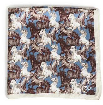 Kenzo Horses Small Scale Silk Bandana