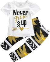 Aliven 2PCS/Set Toddler Kids Baby Girls Outfit Clothes T-shirt Tops+Long Pants Trousers