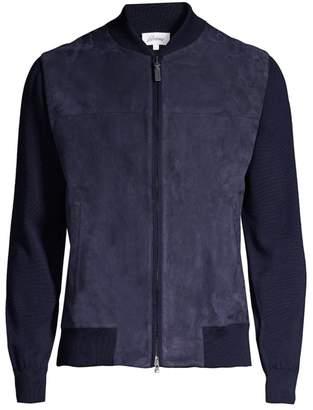 Brioni Wool & Suede Bomber Jacket