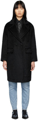 Mackage Black Alpaca and Wool Eve Long Coat