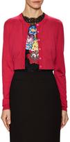 Dolce & Gabbana Silk Ribbed Crop Cardigan