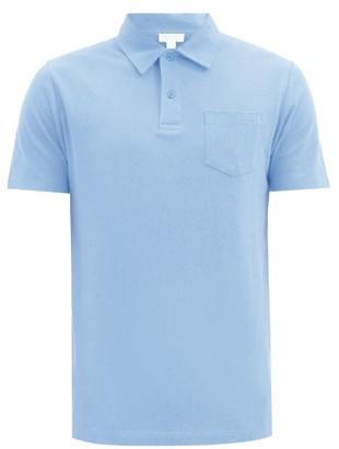 Sunspel Riviera Cotton-pique Polo Shirt - Light Blue