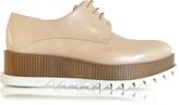 Jil Sander Nude Leather Platform Oxford Shoe