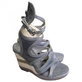 Balenciaga Blue Cloth Sandals