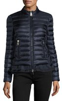 Moncler Diantha Laced-Down Peplum Jacket, Blue