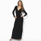 Ralph Lauren Embellished Surplice Gown