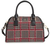 Kate Spade Prospect Place Small Pippa Houndstooth Crossbody Satchel - Brown