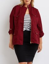 Charlotte Russe Plus Size Cargo Anorak Jacket