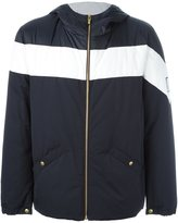 Moncler Gamme Bleu hooded two tone jacket - men - Polyamide/Cotton/Cupro/Nylon - 2