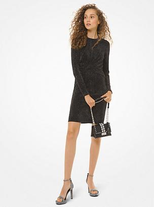 MICHAEL Michael Kors MK Metallic Knit Twist-Front Dress - Black/silver - Michael Kors
