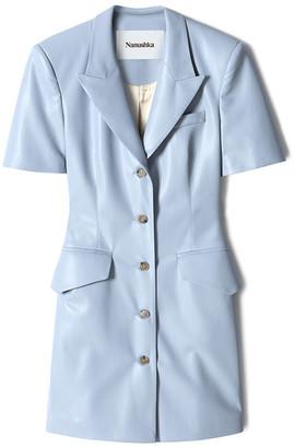 Nanushka Anco Faux-Leather Shirt Dress