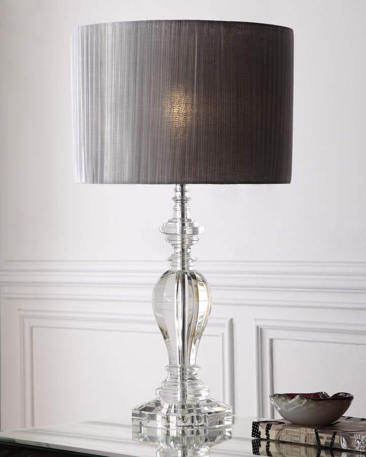 Pleated Shade Crystal Lamp