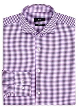 HUGO BOSS Shadow Check Regular Fit Dress Shirt