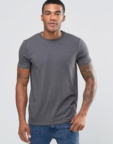 Asos Muscle T-Shirt With Crew Neck In Charcoal Marl