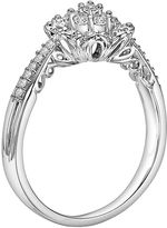 Simply Vera Vera Wang Diamond Flower Engagement Ring in 14k White Gold (1/5-ct. T.W.)