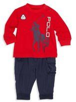 Ralph Lauren Baby's Two-Piece Graphic Tee & Cargo Jogger Pants Set