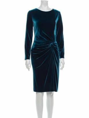 Talbot Runhof Scoop Neck Knee-Length Dress Blue