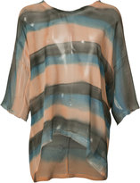 Raquel Allegra striped T-shirt - women - Silk - 0