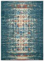 Safavieh Monaco Collection MNC208 Rug, Blue/Ivory, 4' X 5'7""