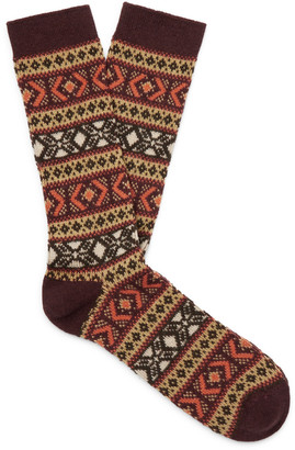 Anonymous Ism Intarsia Knitted Socks
