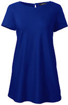 Lands' End Women's Petite Flowy Tunic Top-Rich Sapphire