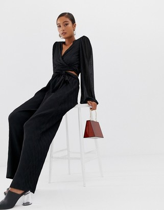 Minimum Moves By tie waist trousers-Black
