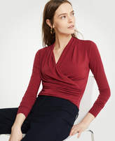 Ann Taylor Faux Wrap Knit Top