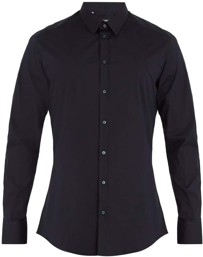 Dolce & Gabbana Single-cuff cotton-poplin shirt