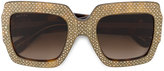 Gucci rhinestone embellished sunglasses - women - Acetate - One Size
