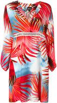 Just Cavalli palm print shirt dress - women - Viscose - 38