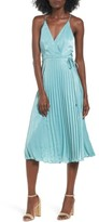 Lush Women's Pleated Satin Dress