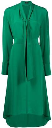 Joseph Long-Sleeve Midi Dress