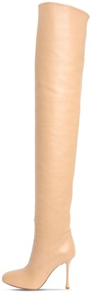 Francesco Russo 105mm Leather Over-The-Knee Boots