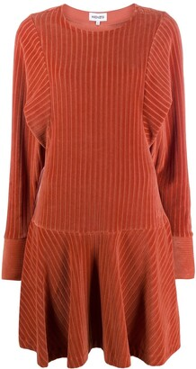 Kenzo Textured Style Ribbed Mini Dress